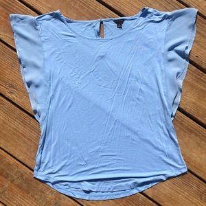ANN TAYLOR baby blue blouse